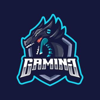 Mascote do logotipo do dragão