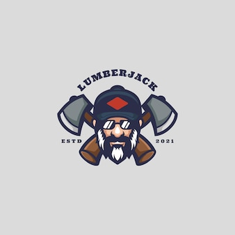 Mascote do logotipo do lenhador