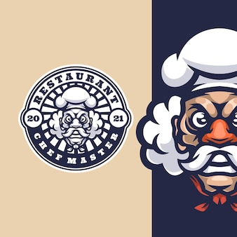 Mascote do logotipo do master chef