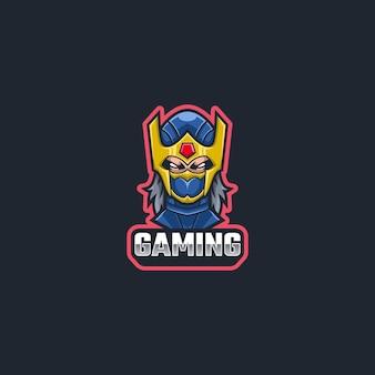Mascote do logotipo do ninja