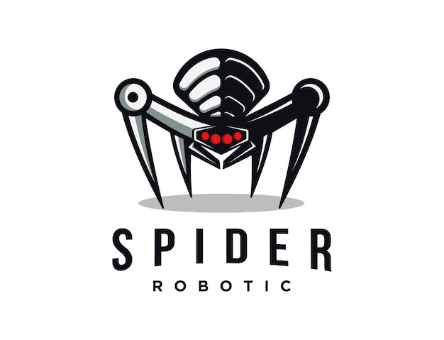 Mascote do logotipo do robô aranha