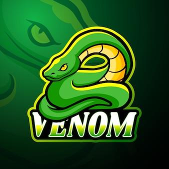 Mascote do logotipo do venom esport