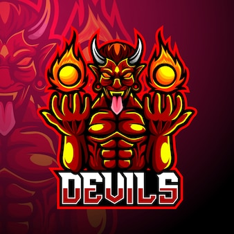 Mascote do logotipo esport do diabo