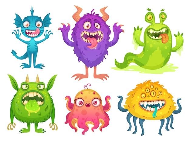 Mascote do monstro dos desenhos animados