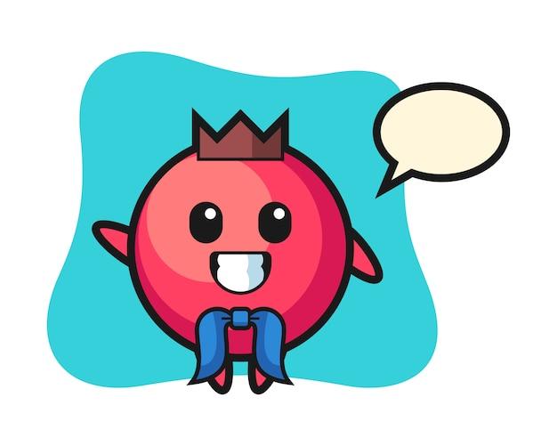 Mascote do personagem de cranberry como um marinheiro, estilo fofo, adesivo, elemento de logotipo
