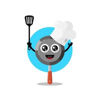 Mascote do personagem fofo pan chef