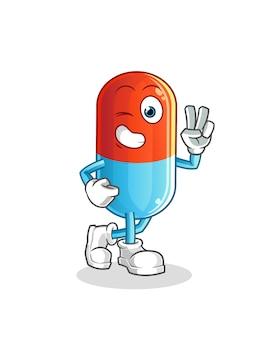 Mascote do personagem jovem de medicina