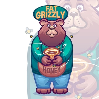 Mascote do urso pardo