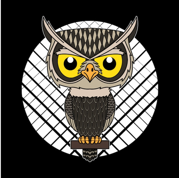 Mascote dos desenhos animados da coruja