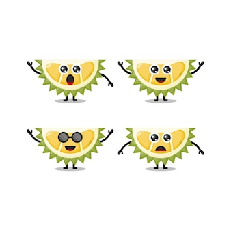 Mascote durian fofo