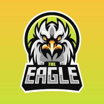 Mascote eagle head para esport