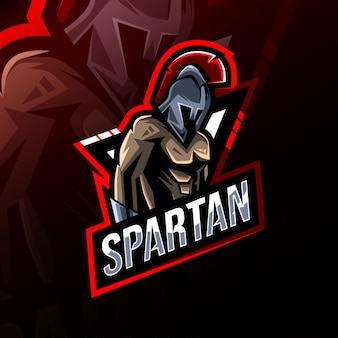 Mascote espartano logotipo esport design