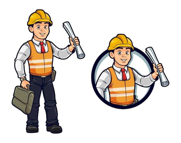 Mascote especialista em construtor de desenhos animados