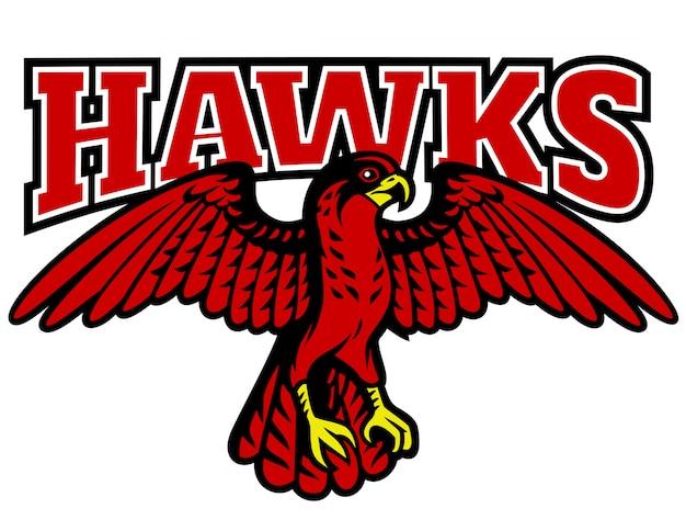 Mascote falcão vermelho