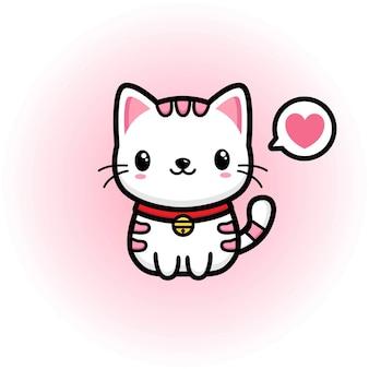 Mascote gato bonito