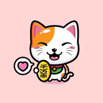 Mascote gato fofo