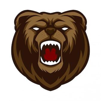 Mascote logo urso irado