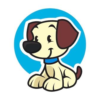 Mascote logotipo cão cuidados com os animais