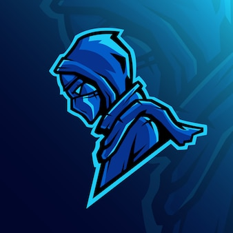 Mascote logotipo conceito shinobi