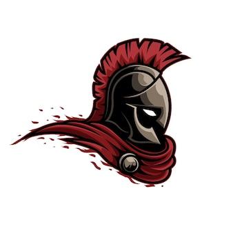 Mascote logotipo guerreiro espartano