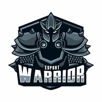 Mascote logotipo guerreiro esport