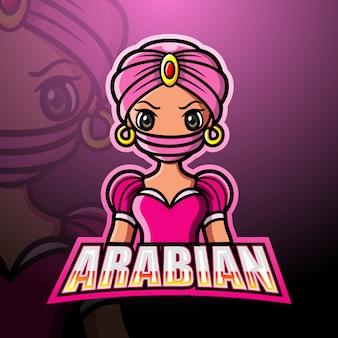 Mascote menina árabe