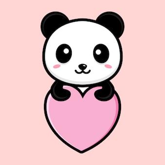 Mascote panda fofo