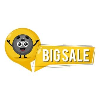 Mascote personagem fofa de boliche grande venda