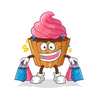Mascote que espera bolo de scup