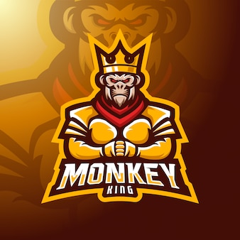 Mascote rei macaco.