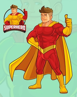 Mascote super-herói