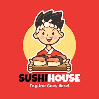 Mascote sushi japonês