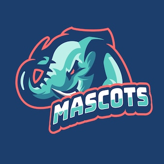 Mascotes do logotipo do jogo elephant esports