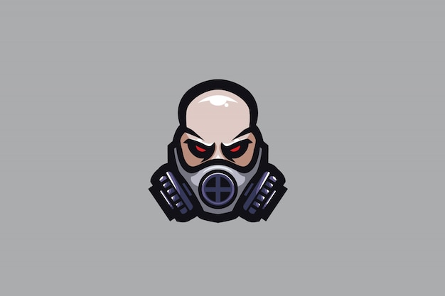 Masked man e sports logo