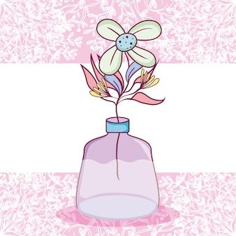 Mason jar flores cartão colorido de pote