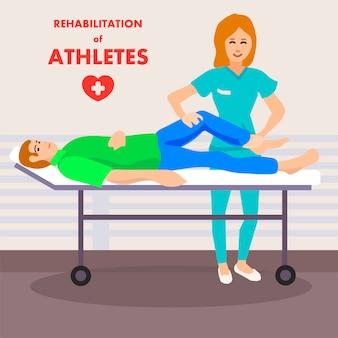 Massagem nas pernas de recuperação no centro médico