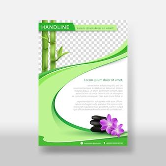 Massagem ou folheto natural & modelo de capa de cartaz