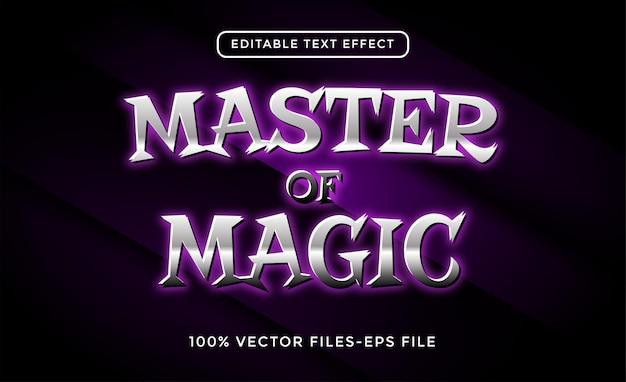 Master magic text effect vector premium