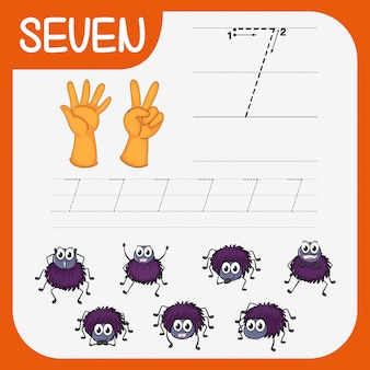 Matemática escrita prática número sete