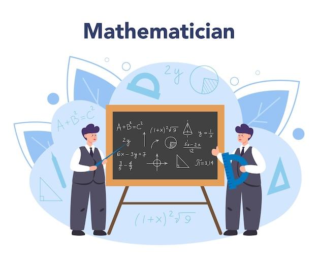 Matemático busca e usa padrão científico e pesquisa para formular novos cálculos