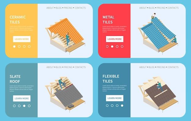 Materiais de construção de telhado de edifícios de empreiteiros de telhados