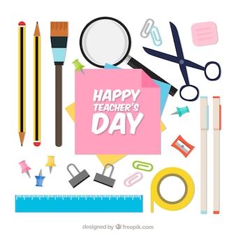 Materiais escolares dia dos professores mundiais