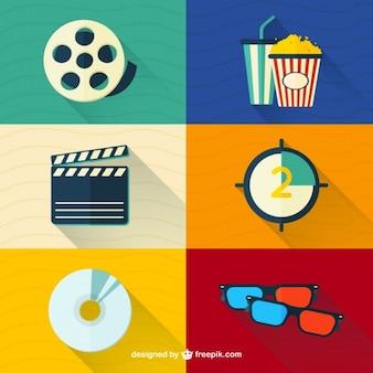 Material audiovisual no design plano