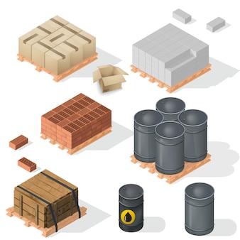 Material de construção isométrico