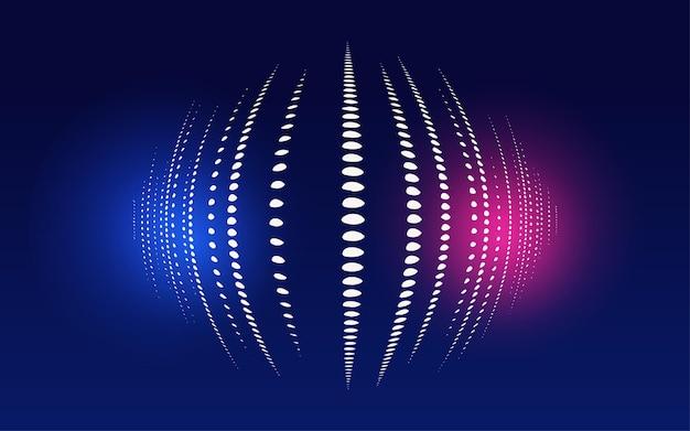 Material de fundo de cartaz anual de partícula de ciência e tecnologia linhas futuristas abstratas