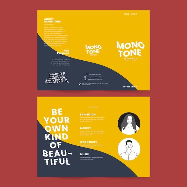 Material de marketing: modelos de folhetos