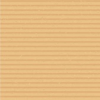 Material de papelão perto do fundo quadrado do vetor realista. ilustração da superfície da caixa ondulada marrom. capa de folha de papel ofício transparente. papelão bege com textura flauta