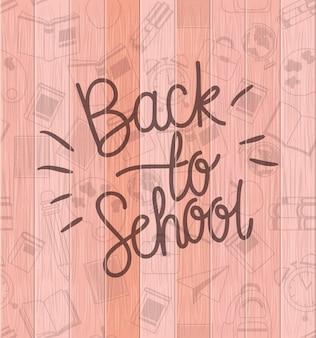 Material escolar de volta ao padrão escolar