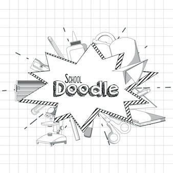 Material escolar doodle