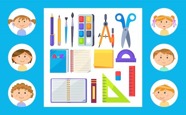 Material escolar ou papelaria